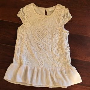 Girls Abercrombie lace top